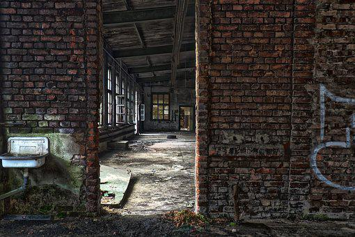 Abandoned, Brick, Old, Wall, Architecture, Building