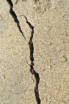 Sand, Sea, Beach, Coast, Crack, Desert, Drought, Dry