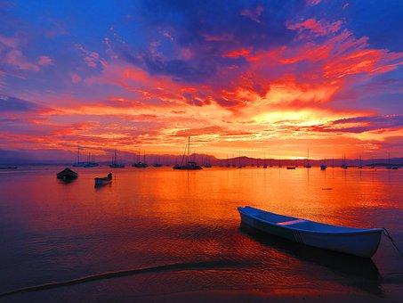 Sunset, Body Of Water, Dawn, Mar, Sol, Trip, Costa