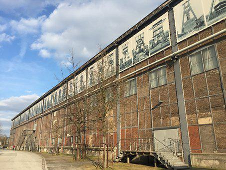 Architecture, Building, Hall, Industry, Factory