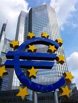 Euro, Bank, Frankfurt, Symbol, Money, Business, Finance