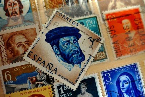 Old, Collection, Post, Letters, Postmark, Vintage