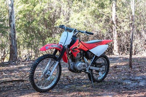 Motorbike, Honda, Crf100f, Honda Crf100f, Motorcycle