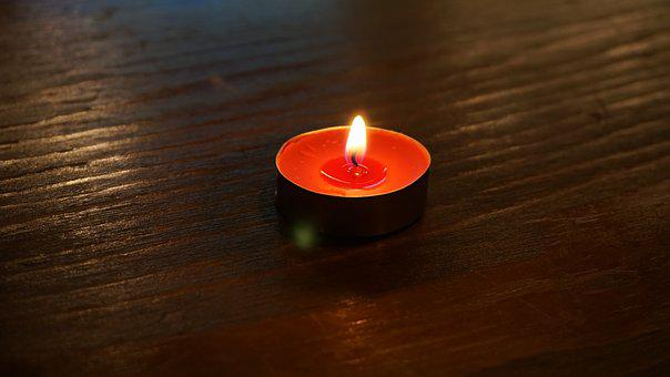 Candle, Burnt, Flame, Candlelight, In The Dark