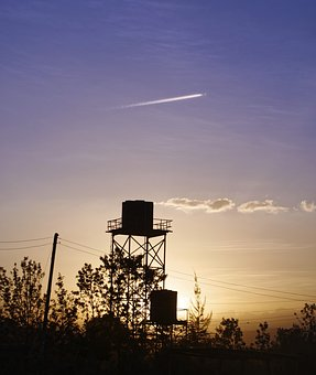 Sky, Sunset, Industry, Environment, Tower, Landscape