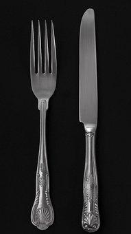 Cutlery, No One, Knife, Tableware, Silver Tableware