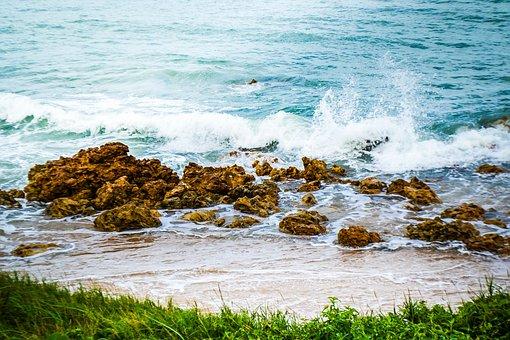 Body Of Water, Mar, Nature, Costa, Ocean, Wave, Beach