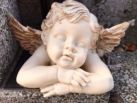 Angel, Nostalgia, Cemetery, Statuette, Memories