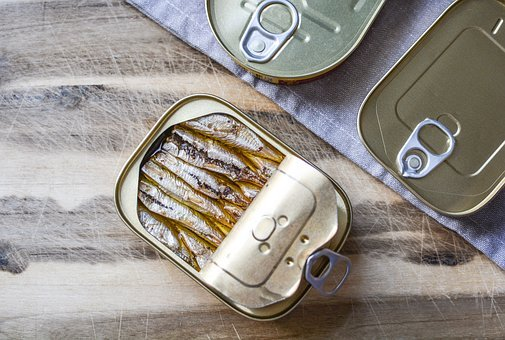 Fish, Can, Metallic, Aluminum, Container, Storage