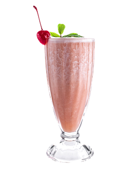 Milkshake, Drink, Glass, Strawberry, Cocktail, Smoothie