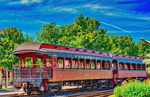 Hdr, Old Strasberg Railroad, Travel, Track, Train