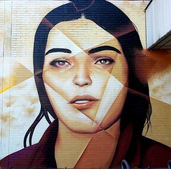 Portrait, People, Adult, Woman, Street Art, Graffiti