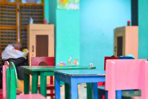Table, Seat, Color, Learn, School, Playground, Kids