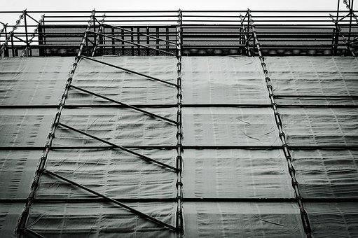 Industry, Scaffolding, Scale, Site, Renovation, Work