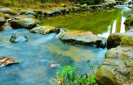 Waters, Nature, River, Rock, Falls, Flow, Landscape
