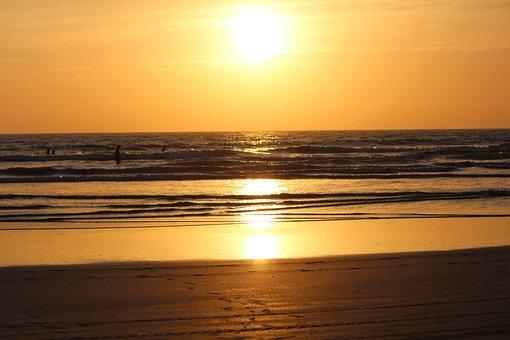 Sunset, Dawn, Water, Dusk, Sun, Evening, Sea