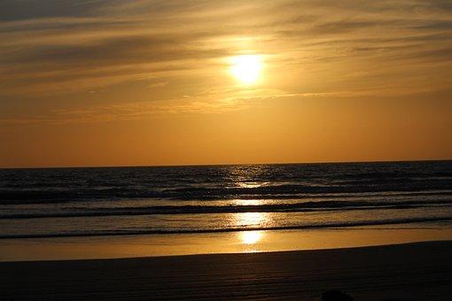 Sunset, Sun, Dawn, Dusk, Water, Sea, Evening, Beach