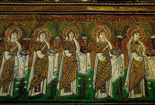Religion, Art, Mosaic, Gorgeous, Shiny Gold