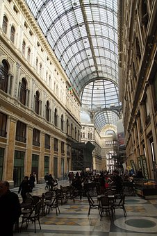 Naples, Italy, Italia, Shopping Mall, Campaign