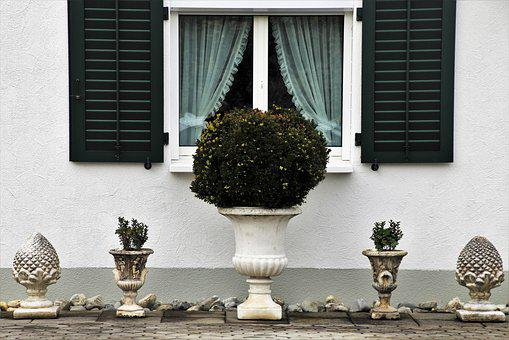 House, Window, Decoration, Spring, Shutters, Facade