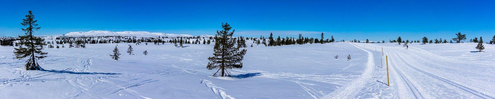 Snow, Winter, Panorama, Panoramic, Landscape, Sky