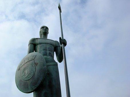 Sky, Sculpture, Warrior, Chin