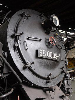 Steam Locomotive, Smoke Chamber Door, Locomotive Shed