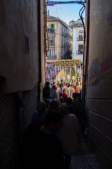 Granada, Andalusia, Spain, Street, Lane, Easter, City