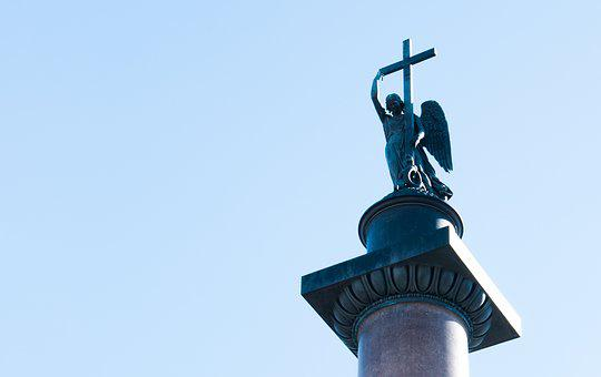 Sculpture, Sky, Blue Sky, Colonna, St Petersburg Russia