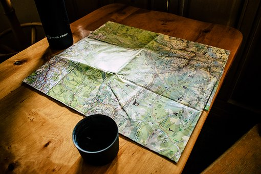 Map, Paper, Tour, Vacuum Flask