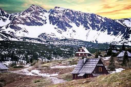 Snow, Mountain, Panoramic, Nature, Travel, Winter, Ice