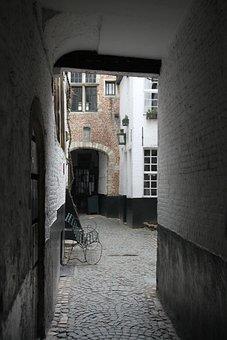 Antwerp, Vlaekensgang, Rose, Belgium, Architecture