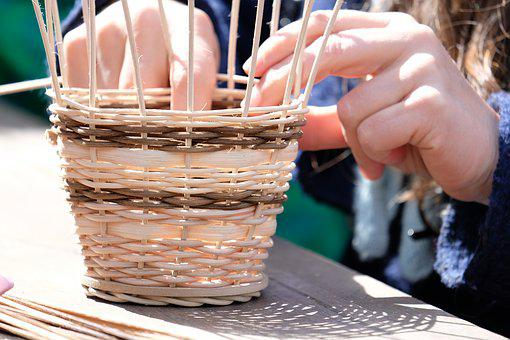 Basket, Basket Weave, Wicker Basket, Hand Labor, Wattle