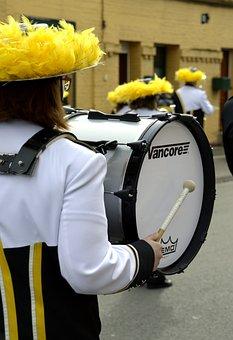 Full, Air, Music, Street, Orchestra, Déflé, Drum