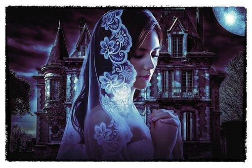 Gothic, Dark, Art, Manor, Haunted, Haunted Manor, Bride