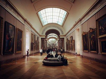 Architecture, Inside, Indoors, Column, Ceiling, Hallway