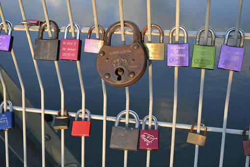 Security, Hang, Padlock, Close, Secure, Iron, Bridge