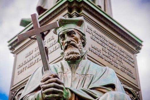 Statue, Sculpture, Culture, Human, Reformation, Jan Hus