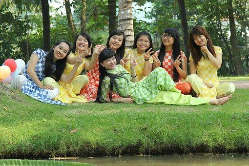 Ao Dai, Dress Student, Women, Lovely, Portrait, Woman