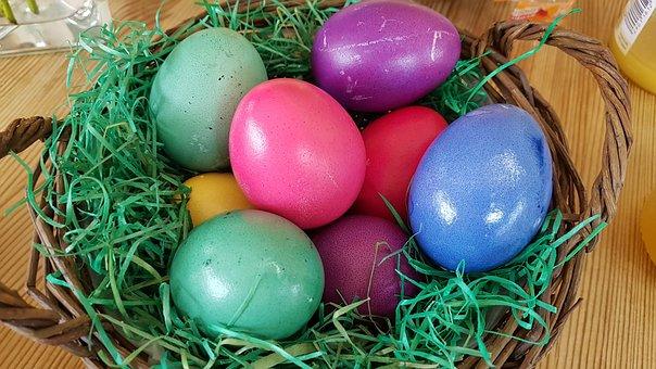 Easter, Egg, Nest, Easter Egg, Ornament, Osterkorb