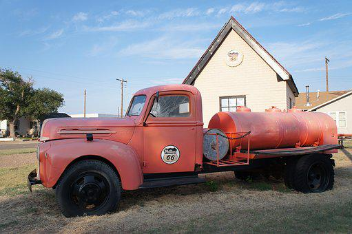 Vehicle, Truck, Fuel, Philips 66, Route 66, Transport