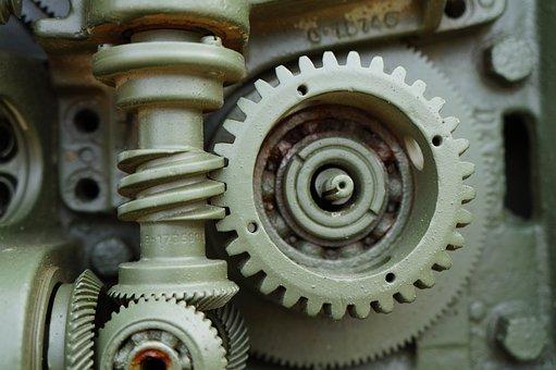 Gear, Machine, Engine, Machinery, Steel, Tank, Army