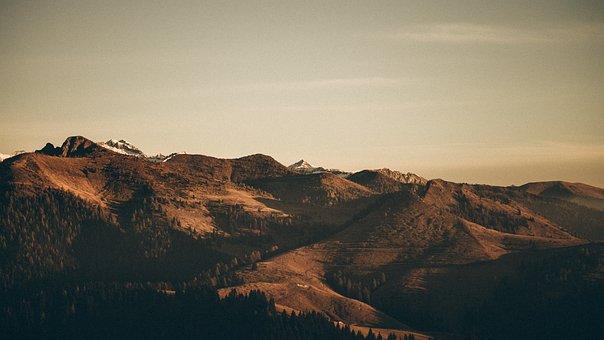 Panoramic, Sunset, Landscape, Nature, Travel, Mountain