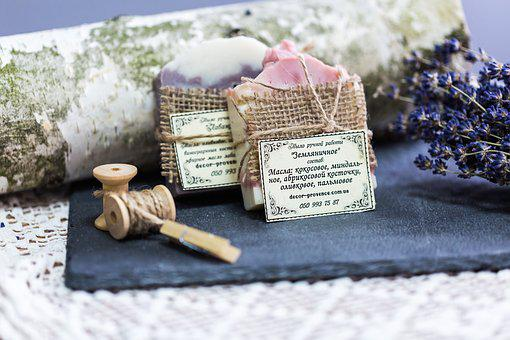 Ease, Nature, Care, Lavender, Soap, Background