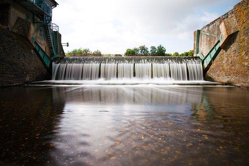 Waters, River, Nature, Waterfall, Travel, Flow, Dam