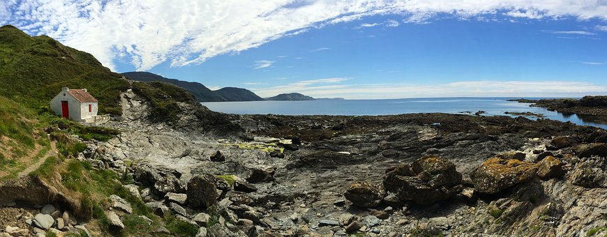 Niarbyl, Isle Of Man, Nature, Panoramic, Landscape