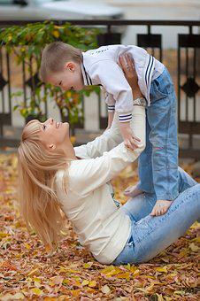 People, Mom, Son, Nature, Outdoors, Woman, Posing, Kids