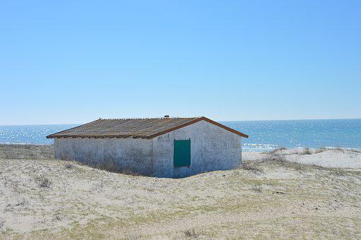 Outdoors, Empty, House, Coast, Nature, Summer, Sky