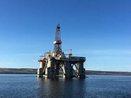 Oil Industry, Drilling Rig Wilhunter, Invergordon