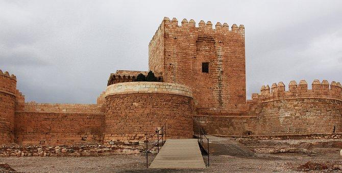 Architecture, Travel, Old, Palace, Alcazaba, Almeria